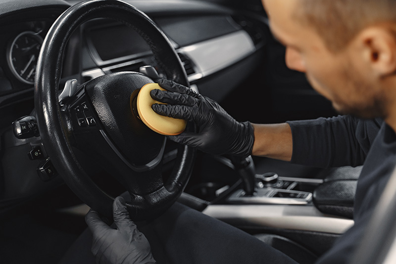 Detalig wnętrza samochodou